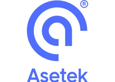 Asetek logo stacked R blue3